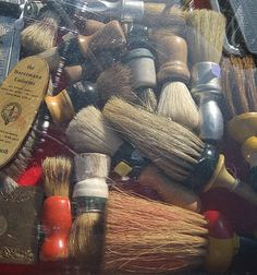 ...a huge collection of old shaving brushes and paraphernalia...Fun to collect