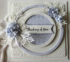 Creative Expressions Sue Wilson Noble Dies - Double Pierced Circles for sale online Sue Wilson, Spellbinders Cards, Birthday Cards For Women, Die Cut Cards, Pretty Cards, Sympathy Cards, Paper Cards, Creative Cards, Flower Cards
