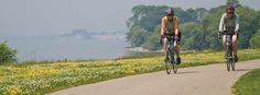 The Trail, a legacy project protecting connecting and celebrating Canada's Great Lakes and St. Lawrence River, is a 3000 km scenic, signed route using paths and roads. Legacy Projects, Great Lakes, Trail, Cycling, Country Roads, River, Biking, Bicycling, Rivers