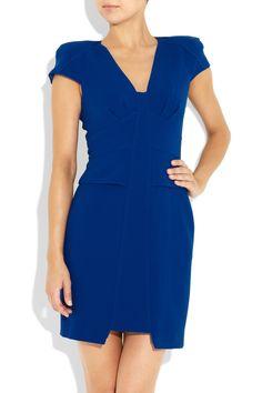 Tibi: colette wool-crepe dress