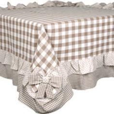 Meravigliosa tovaglia country 115x115 fiocchi beige collezione Angelica Home & Country