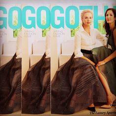 Go go #gotham.  #motheranddaughter cover #dreamteam @gothammag
