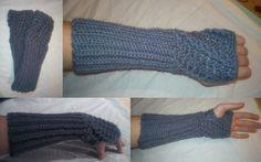 Horgolt kézmelegítő....  Minta: http://bethsco.com/2011/02/twist-fingerless-glove-pattern.html