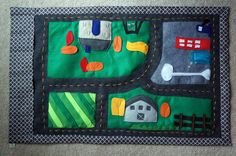 Felt Car Track Playmat CUSTOM Children's Toy by StacisSweetDesigns