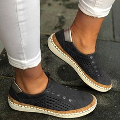 Women Leather Slip-On Sneaker Comfortable Loafers Women Flats Tenis Feminino Zapatos De Mujer Plus Slip On Sneakers, Slip On Shoes, Flat Shoes, Oxford Shoes, Loafer Sneakers, Sneaker Women, Peep Toe, Loafers Online, Comfortable Flats