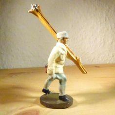 Elastolin Gebirgsjäger mit Ski 7,5cm Lineol, Massefiguren Wehrmacht (5) | eBay