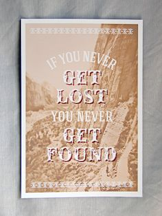 12x18 Lost and Found Travel-Inspired Old West Poster Giclee Art Print - FREE shipping in US.