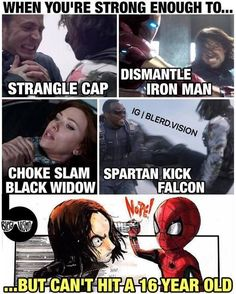 I'm sorry Bucky, but... so true #bucky #spiderman #cosplayclass #marvel
