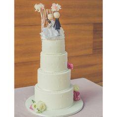 Esta fue la preciosa tarta fina y delicada que hicimos para I&M  #madewithstudio