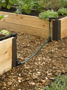 Snip-n-Drip Raised Bed Connector Kit. This kit allows you to water two raised beds from one Raised Bed Snip-n-Drip Soaker System, sold separately. The kit includes a set of four Angle Connectors that pivot 180 degrees so you can position them at any angle.