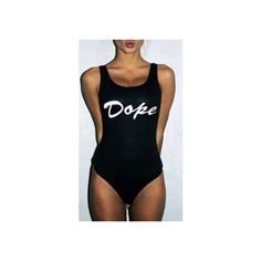 Edm Edc Rave Custom One Piece Thong Bitchin Kale Beyonce Weed Emoji... ($39) ❤ liked on Polyvore featuring intimates, bodysuit, black, women's clothing and body suit