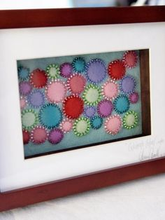Celebrate Colour framed textile art by ABitOfJustBecause on Etsy