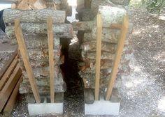 No-tools firewood rack
