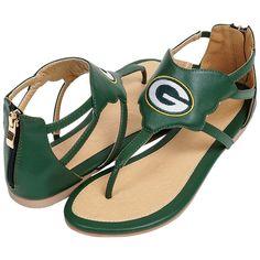 NFL Green Bay Packers Cuce Women's Gladiator Sandals - Green