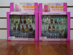 Gloria Wine Rack Cabinet with 12 Wine Carafes - I bought two of these sets together in a lot on E-Bay.