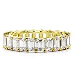 5 ct Emerald Cut Diamond Eternity Band
