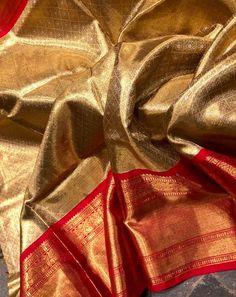 South Indian Wedding Saree, Indian Bridal Sarees, Bridal Silk Saree, Indian Silk Sarees, Indian Bridal Fashion, Saree Wedding, Half Saree Designs, Silk Saree Blouse Designs, Bridal Blouse Designs