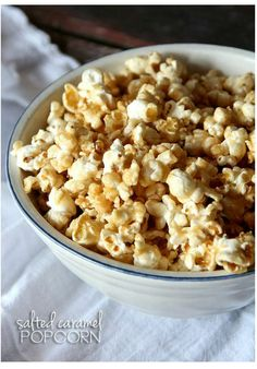Salted Caramel Popcorn RecipeThis Easy Salted Caramel Popcorn Recipe is my favorite Caramel Corn Recipe! It's so easy and adding that extra salt gives it the perfect salty/sweet combo!Just grab some popcorn…I like to use my air-popper to make it, because I can control the amount of salt. But if you don't have an air-popper, you can use a plain microwave kind, or even pop some on your stove top!