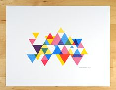 process colour triangle print by desTroy $20