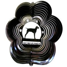 "12"" Weimaraner - Black Starlight Wind Spinner. #weimaraner"