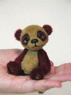 Pebble the Baby Mini Panda Bear by White Forest Bears
