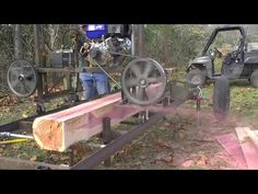 187 RSW Homemade Sawmill MO Red Cedar Part 3 - YouTube