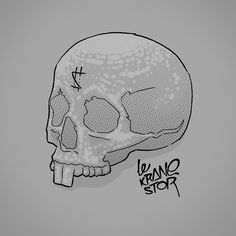 Le Krane-stor (by Crane, Skull, Sugar, Tattoos, Tatuajes, Tattoo, Tattos, Skulls, Sugar Skull