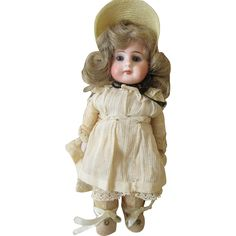 """Sweet 8"""" Bisque Head Belton with Gusseted Body found at www.rubylane.com @rubylanecom"""