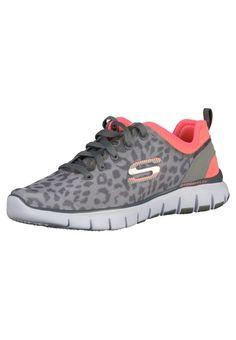 #SKECHERS #Damen #Sneaker #grau / #pink - Lässiger Trainingsschuh mit super leichter und flexibler Skech-Flex Laufsohle. Das Fußbett ist mit einer besonders weichen Komfort-Einlegesohle mit Gel Infused Memory Foam Dämpfung ausgestattet, das sich Ihrer individuellen Fußform anpasst.