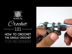 New Stitch A Day makes knitting and crochet simple with video knitting and crochet stitch tutorials. We help you become a better knitter or crocheter with ea. Crochet 101, Crochet Chart, Crochet Videos, Crochet Basics, Crochet For Beginners, Learn To Crochet, Crochet Hooks, Free Crochet, New Stitch A Day