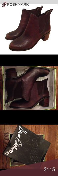 NIB Sam Edelman Leather Ankle Boots Gorgeous brown leather Sam Edelman boots with side elastic gusset for easy slip-on (no buckles or zippers). Size 10, brand new and still in original box! Sam Edelman Shoes Ankle Boots & Booties