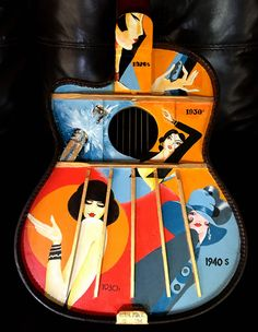 A Painted Guitar Original Painting