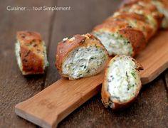 Baguette farcie Mozzarella - Epinards - Cuisiner... tout Simplement, Le Blog de cuisine de Nathalie
