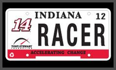 RACR14 license plates available to all fans in all states. Proceeds go to the Tony Stewart Foundation.