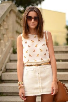 Fox Print. If this is a skort it fits my playclothes board. If not it is very summery and she wears it well!
