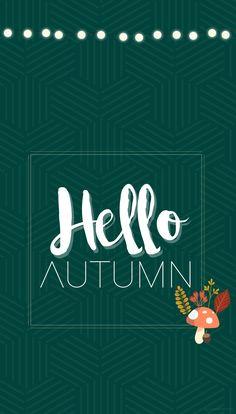 Fond d'écran iphone automne octobre free wallpaper download - renard - champignon - feuilles - moutarde - vert sapin // Les douces couleurs de l'automne... - Quiaimeastuces iPhone 6 ; iPhone 7