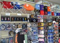 Man Cave Store Salisbury Nc : Flag and banner wall ultimate sports apparel store pinterest