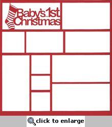 Baby's 1st Christmas 12 x 12 Overlay Laser Die Cut
