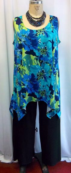 Coco and Juan Lagenlook Plus Size Floral  Print  by COCOandJUAN, $29.00