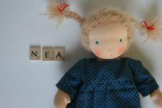 doll/Puppe: Stoffpuppe  NEA  auf Wunsch! von von Kowalke auf DaWanda.com 25 cm 100 Euro