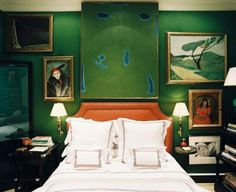 eye-catching paint colors for the bedroom | bedrooms, emerald