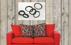 Big Black and White  Large Abstract Art Hand Made by JerryTitanArt