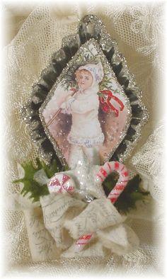 Shabby Chic Tart Tin Ornament