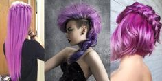 Gorgeous Hair in Violet Shades! - The HairCut Web Top Hairstyles, Unique Hairstyles, Pretty Hairstyles, Braided Mohawk Hairstyles, Love Hair, Gorgeous Hair, Beautiful, Female Mohawk, Dye My Hair
