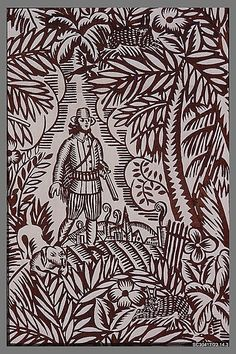 The Hunt Raoul Dufy  (French) Manufacturer: Bianchini-Férier (French, founded Lyons, 1888) Date: ca. 1920 Medium: Printed linen Accession Number: 23.14.3