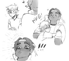 joker-ace: i noticed quiTE a lack of quality heith hugs going around so i did it myself bc hunk is one hell of a hugger and we shouldn't skip out on such a thing>> this is cute Voltron Klance, Voltron Force, Voltron Memes, Voltron Fanart, Form Voltron, Voltron Ships, Voltron Tumblr, Otp, Samurai