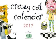 2017 Calendar: Crazy Cat Lady Unbound Printed by wendyjune on Etsy