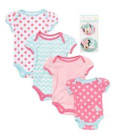 Minnie Mouse Bodysuit & Stickers Set - Infant on #zulily