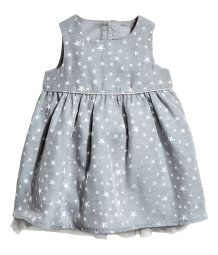 Glittery Dress | Gray/stars | Kids | H&M US
