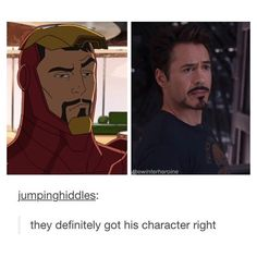 Robert Downey Jr. IS Tony Stark. There is no difference!